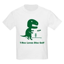 T-Rex Loves Disc Golf T-Shirt