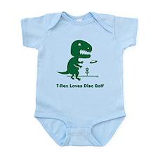 T-Rex Loves Disc Golf Infant Bodysuit