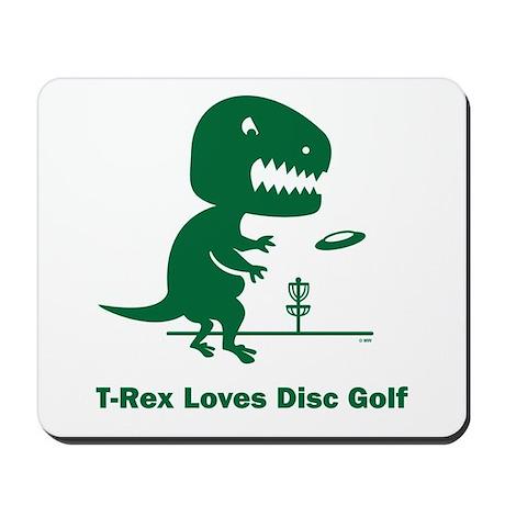 T-Rex Loves Disc Golf Mousepad