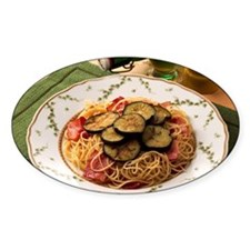 Spaghetti with eggplant and bacon Decal