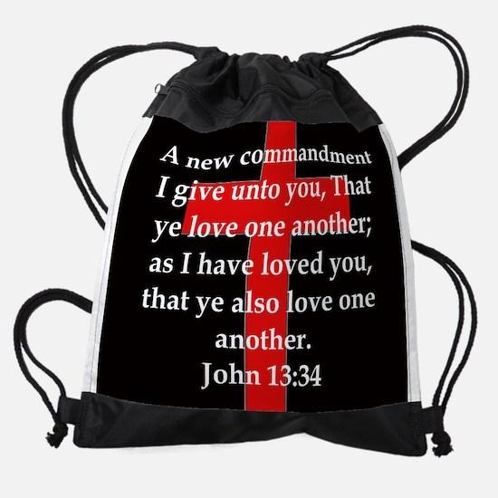 John 13-34 Drawstring Bag