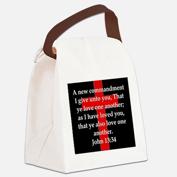 John 13-34 Canvas Lunch Bag
