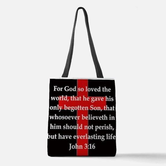 John 3-16 Polyester Tote Bag