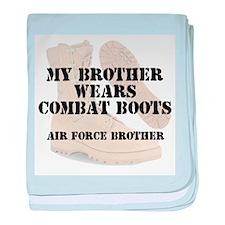 AF Brother wears DCB baby blanket