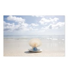 Miniature globe in shell  Postcards (Package of 8)