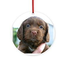 Puppy Dog Ornament (Round)