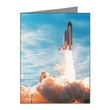 view of a space shuttle taki Note Cards (Pk of 20)