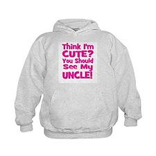 Think I'm Cute? Uncle Pink Hoodie
