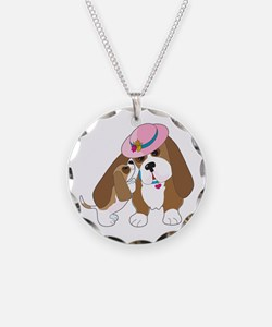 Basset Talk Mom Necklace