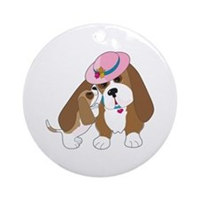 Basset Talk Mom Ornament (Round)