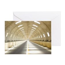 Road tunnel Greeting Card