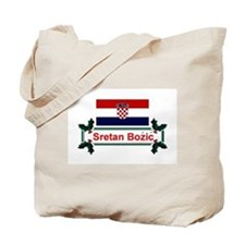 Croatian Sretan Bozic Tote Bag