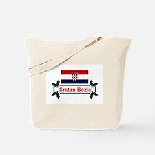 Croatian Sretan Bozic Tote Bag