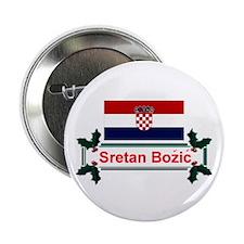 "Croatian Sretan Bozic 2.25"" Button (10 pack)"