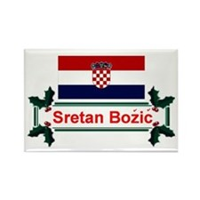 Croatian Sretan Bozic Rectangle Magnet
