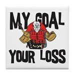 Hockey Goalie Tile Coaster