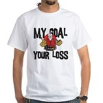 Hockey Goalie White T-Shirt