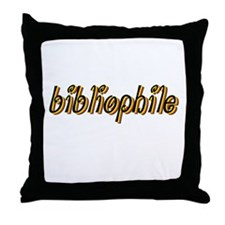 Bibliophile (bright) Throw Pillow