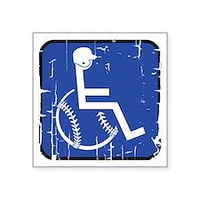 "Handicapable Baseball Square Sticker 3"" x 3"""
