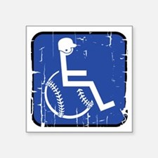 "Handicapable Baseball Square Sticker 3"" x 3"""