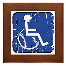Handicapable Baseball Framed Tile