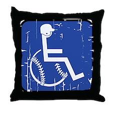 Handicapable Baseball Throw Pillow