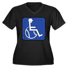 Handicapable Baseball Women's Plus Size V-Neck Dar