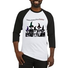 Witches Double Double Toil Trouble Baseball Shirt