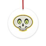 Skull Halloween Ornament (Round)