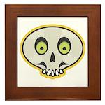 Skull Halloween Framed Tile