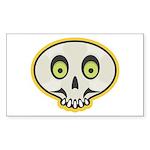 Skull Halloween Rectangle Sticker