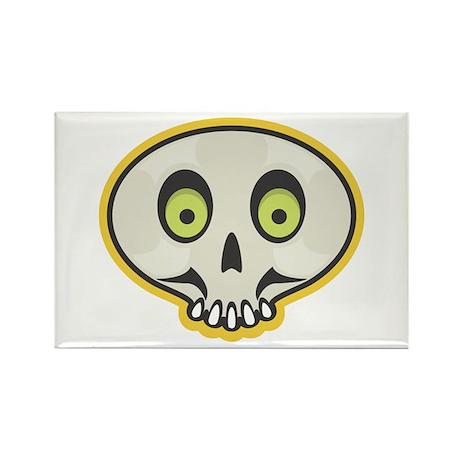 Skull Halloween Rectangle Magnet