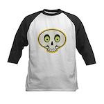 Skull Halloween Kids Baseball Jersey