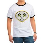 Skull Halloween Ringer T