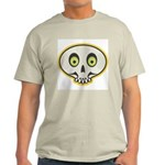 Skull Halloween Ash Grey T-Shirt