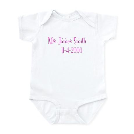 Mrs James Smith 11-4-2 Infant Bodysuit