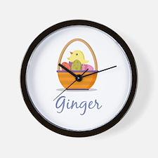 Easter Basket Ginger Wall Clock
