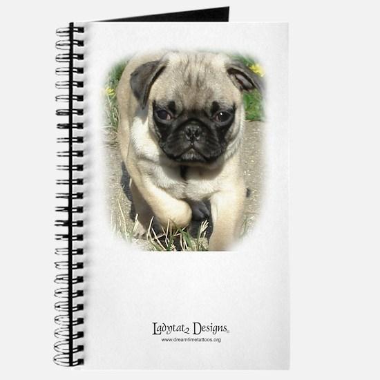 Funny Pug tattoos Journal