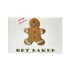Get Baked Gingerbread Man Rectangle Magnet