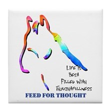 Feed For Thought Tile Coaster