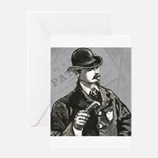 vintage policeman Greeting Card