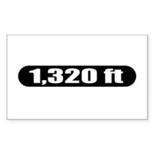 1,320 ft Rectangle Decal