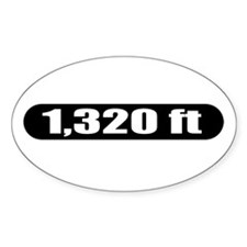 1,320 ft Oval Decal