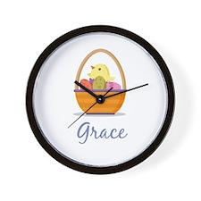 Easter Basket Grace Wall Clock
