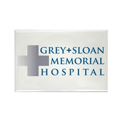 Grey Sloan Rectangle Magnet
