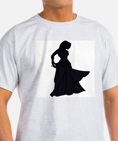 Belly Dance Ash Grey T-Shirt