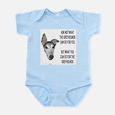 ASK NOT BLUE INFANT CREEPER