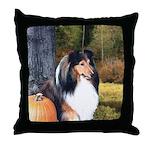 Autumn Sheltie Throw Pillow