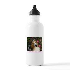 A Dog is a Woman's Best Friend Water Bottle