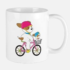 Cute Puppy on Bike Mug